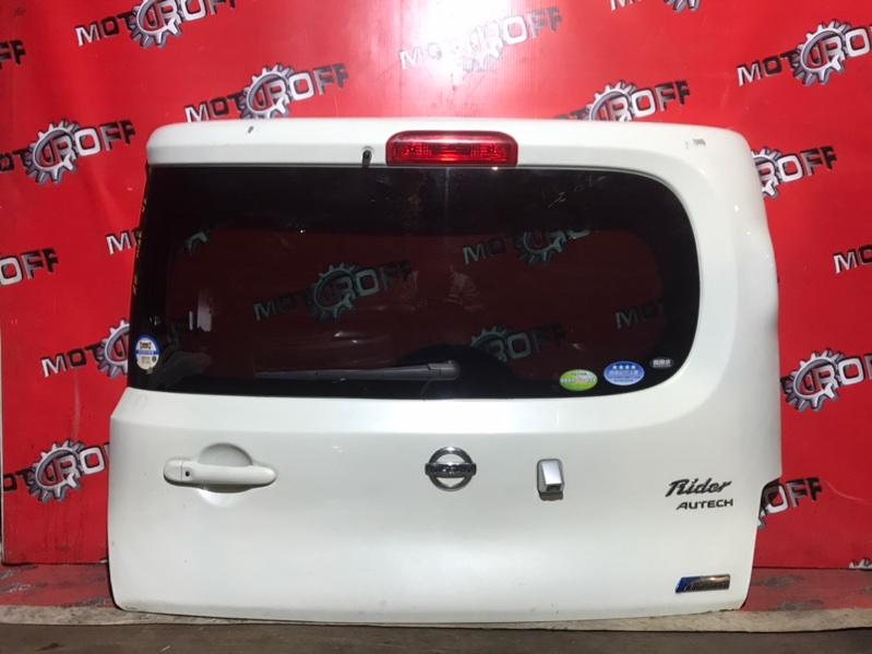 Дверь задняя багажника Nissan Cube Z12 HR15DE 2008 задняя (б/у)