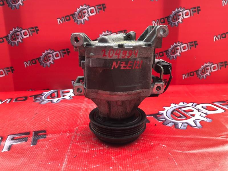Компрессор кондиционера Toyota Corolla Fielder NZE121 1NZ-FE 2000 (б/у)