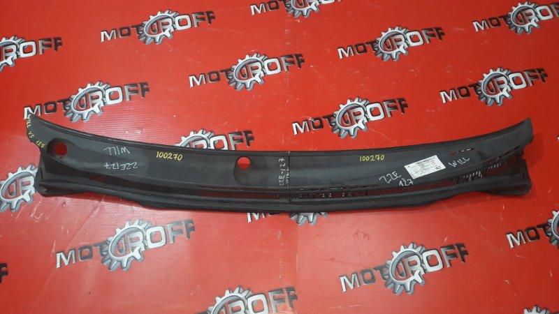 Решетка под лобовое стекло Toyota Will Vs NZE127 1NZ-FE 2001 (б/у)
