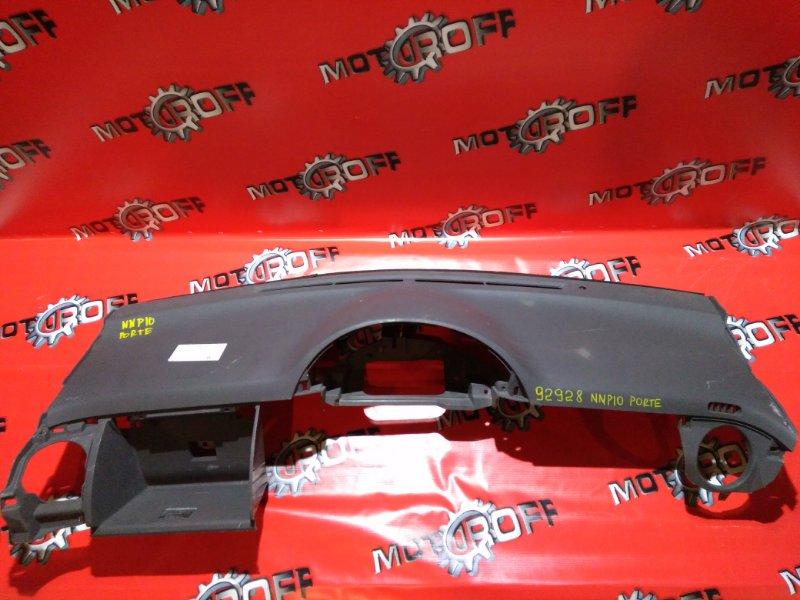 Панель передняя в салон (торпеда) Toyota Porte NNP10 1NZ-FE 2004 верхний (б/у)