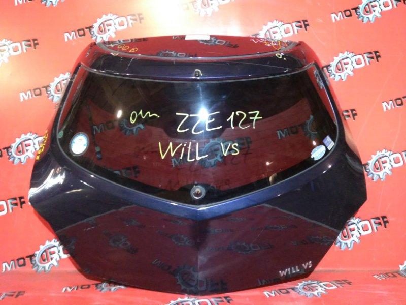 Дверь задняя багажника Toyota Will Vs ZZE127 1NZ-FE 2001 задняя (б/у)