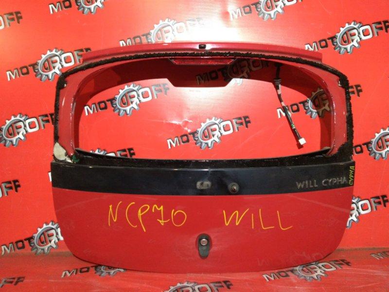 Дверь задняя багажника Toyota Will Cypha NCP70 1NZ-FE 2002 задняя (б/у)