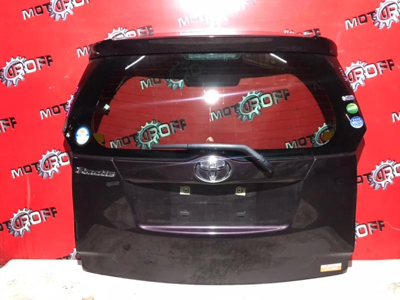Дверь задняя багажника Toyota Ractis NCP120 1NZ-FE 2010 задняя (б/у)