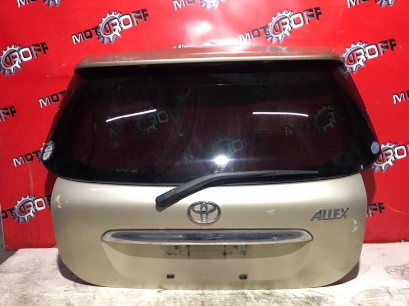 Дверь задняя багажника Toyota Allex NZE121 1NZ-FE 2001 задняя (б/у)