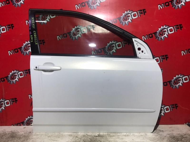 Дверь боковая Toyota Corolla NZE121 1NZ-FE 2000 передняя правая (б/у)
