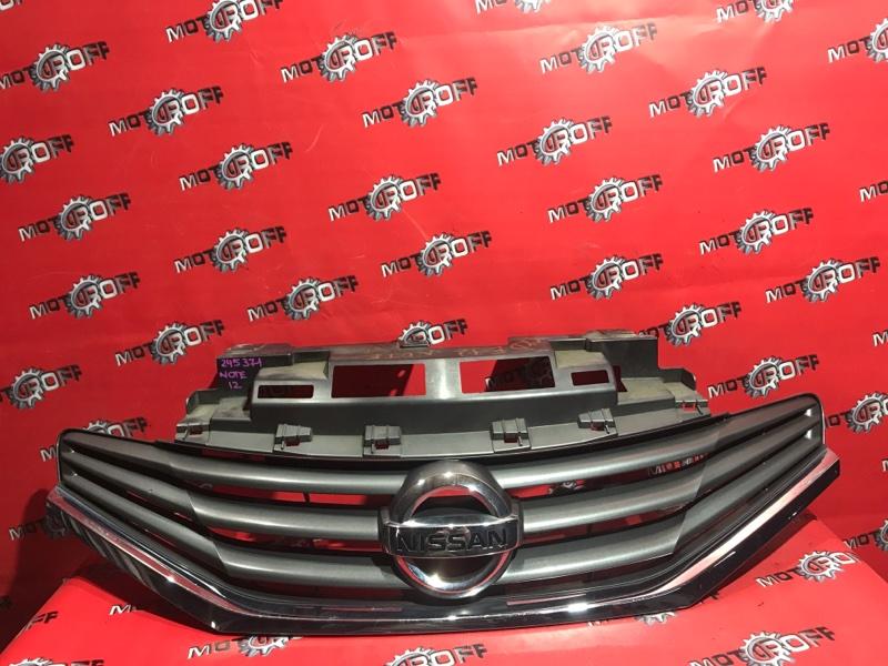 Решетка радиатора Nissan Note E12 HR12DE 2012 нижняя (б/у)