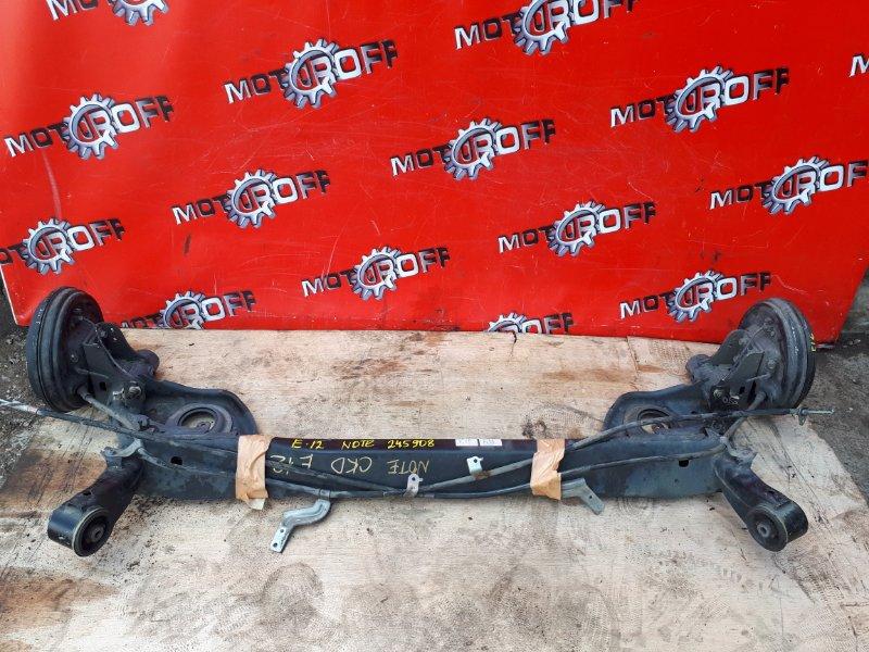 Балка поперечная Nissan Note E12 HR12DE 2012 задняя (б/у)