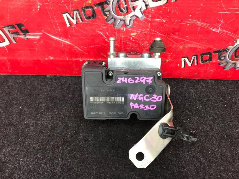 Блок abs (модулятор abs) Toyota Passo NGC30 1NR-FE 2010 (б/у)