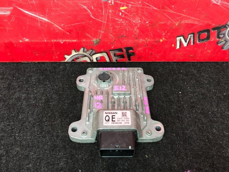 Компьютер (блок управления) Nissan Note E12 HR12DE 2012 (б/у)
