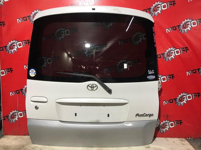Дверь задняя багажника Toyota Funcargo NCP20 2NZ-FE 1999 задняя (б/у)