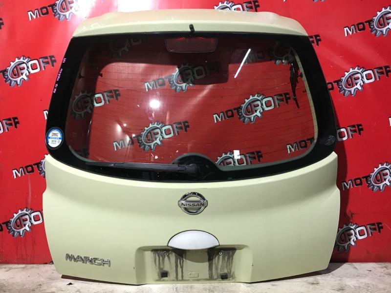 Дверь задняя багажника Nissan March AK12 CR12DE 2002 задняя (б/у)