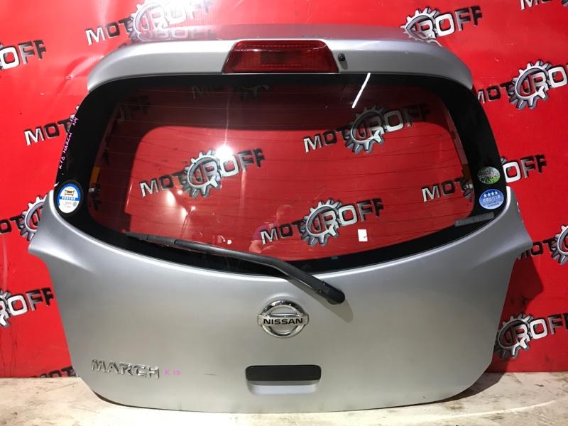Дверь задняя багажника Nissan March K13 HR12DE 2010 задняя (б/у)