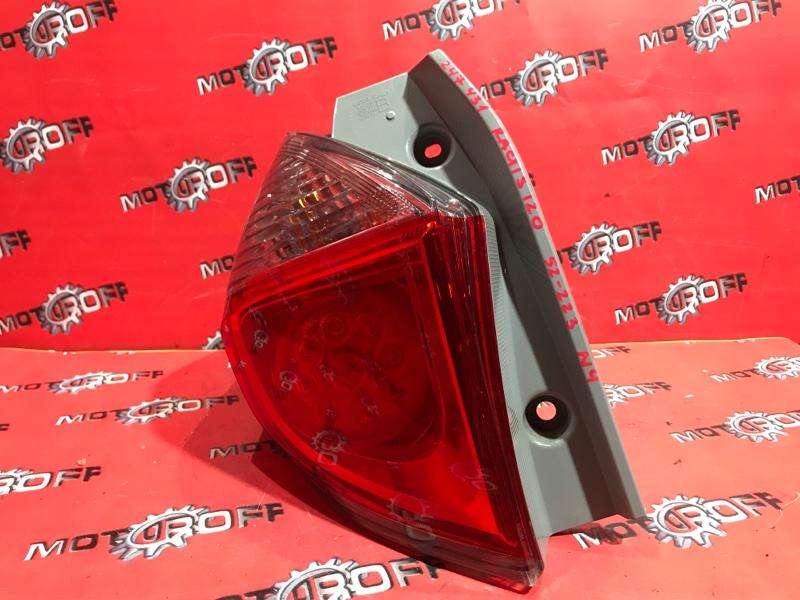 Фонарь (стоп-сигнал) Toyota Ractis NCP120 1NZ-FE 2010 задний левый (б/у)