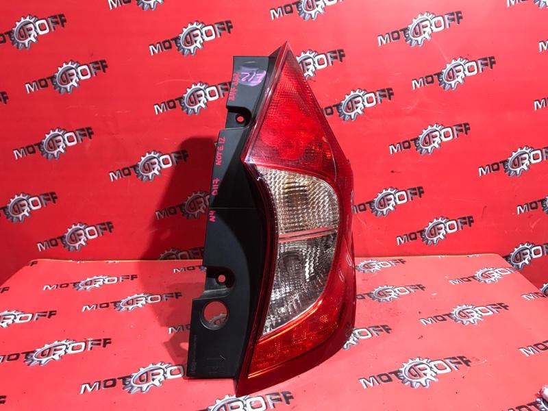 Фонарь (стоп-сигнал) Nissan Note E12 HR12DE 2012 задний правый (б/у)
