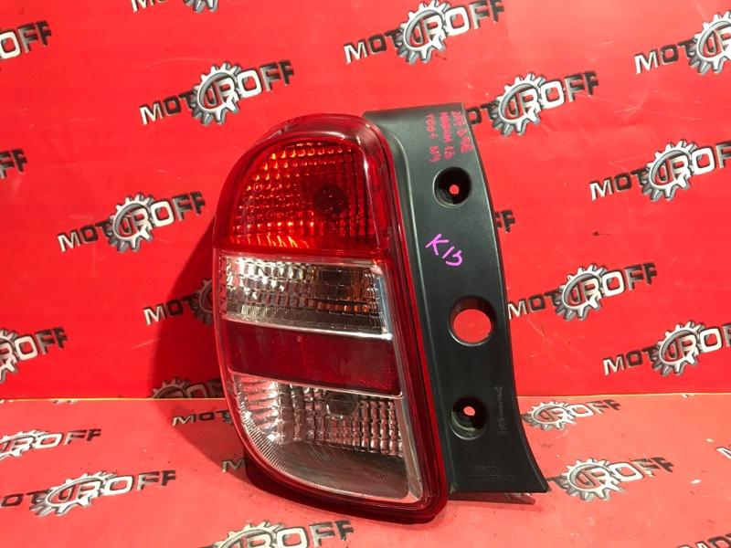 Фонарь (стоп-сигнал) Nissan March K13 HR12DE 2010 задний левый (б/у)