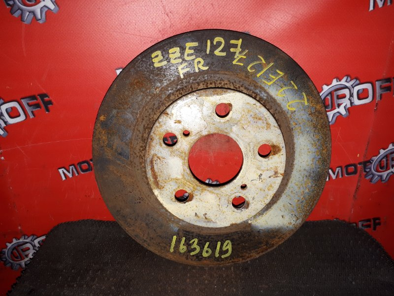 Диск тормозной Toyota Will Vs ZZE127 1ZZ-FE 2001 передний (б/у)