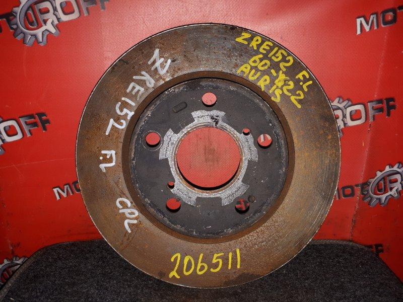 Диск тормозной Toyota Auris ZRE152H 2ZR-FE 2006 передний левый (б/у)