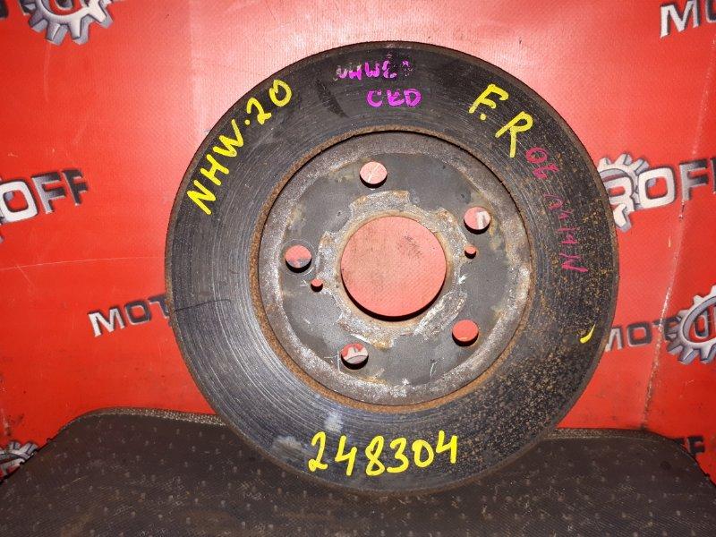Диск тормозной Toyota Prius NHW20 1NZ-FXE 2003 передний (б/у)