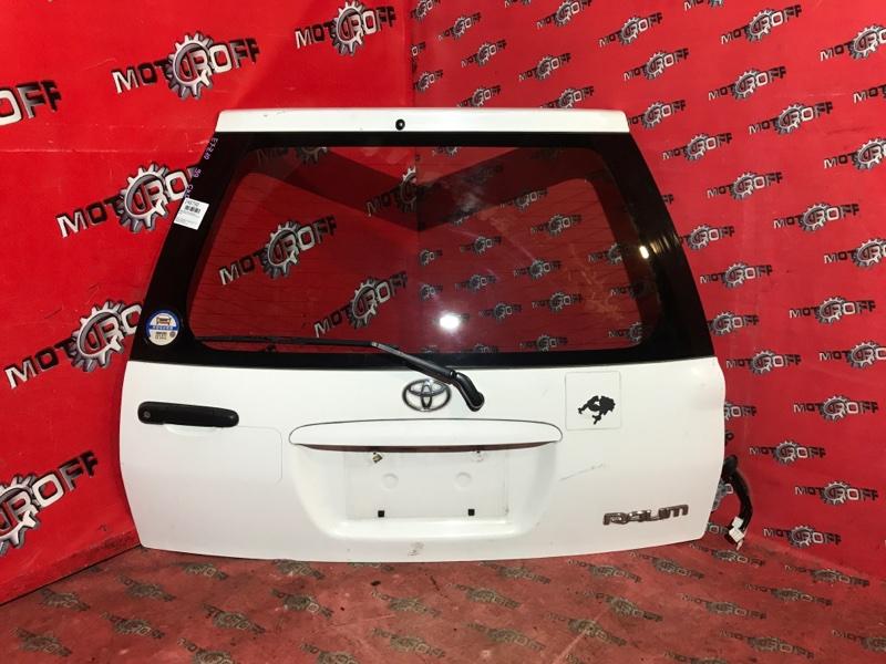 Дверь задняя багажника Toyota Raum EXZ10 5E-FE 1997 задняя (б/у)