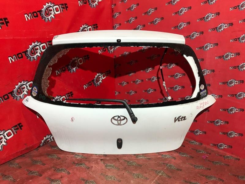 Дверь задняя багажника Toyota Vitz SCP10 1SZ-FE 1999 задняя (б/у)