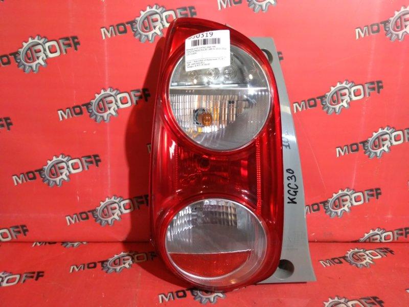Фонарь (стоп-сигнал) Toyota Passo KGC30 1KR-FE 2010 задний левый (б/у)