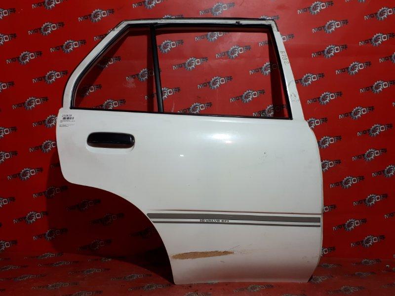 Дверь боковая Toyota Starlet EP82 4E-FE 1989 задняя правая (б/у)