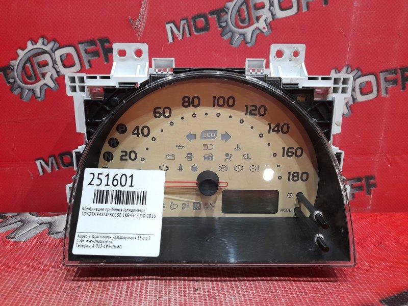 Комбинация приборов (спидометр) Toyota Passo KGC30 1KR-FE 2010 (б/у)