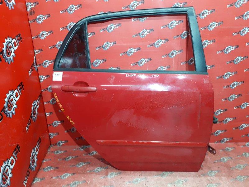 Дверь боковая Toyota Corolla Runx NZE121 1NZ-FE `2001 задняя правая (б/у)