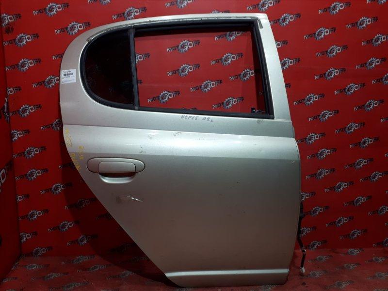 Дверь боковая Toyota Vitz NCP10 2NZ-FE 1999 задняя правая (б/у)
