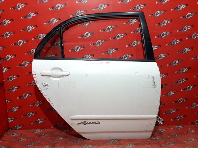 Дверь боковая Toyota Corolla NZE121 1NZ-FE `2000 задняя правая (б/у)