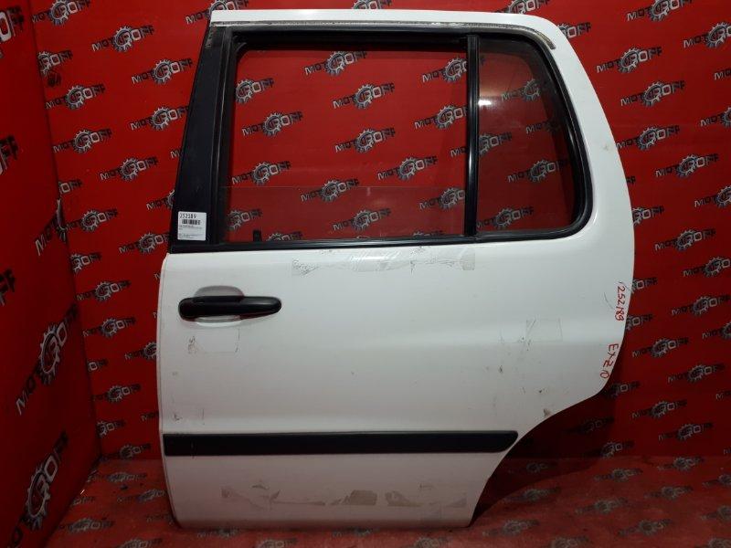 Дверь боковая Toyota Raum EXZ10 5E-FE 1997 задняя левая (б/у)