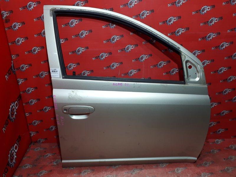Дверь боковая Toyota Vitz NCP10 2NZ-FE 1999 передняя правая (б/у)