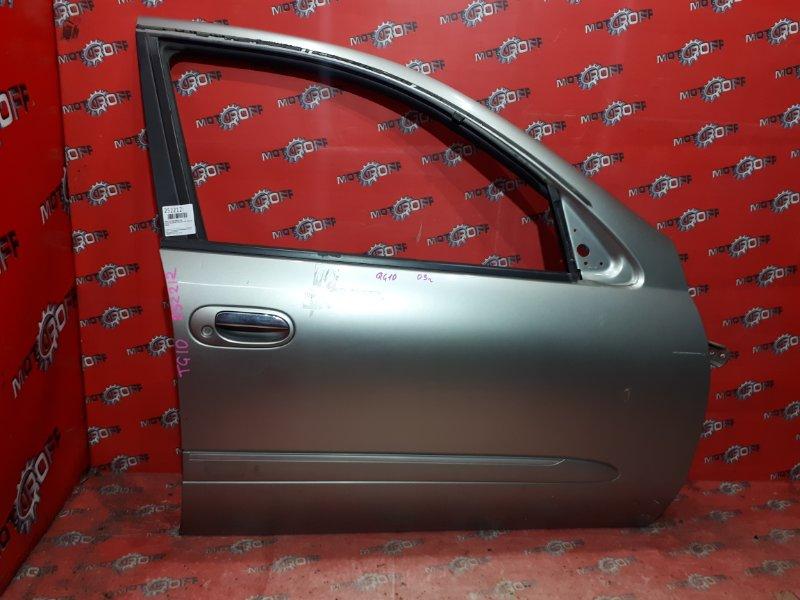 Дверь боковая Nissan Bluebird TG10 QR20DD 2000 передняя правая (б/у)