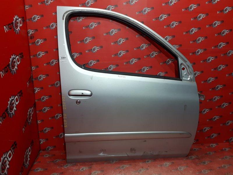 Дверь боковая Toyota Funcargo NCP20 2NZ-FE 1999 передняя правая (б/у)