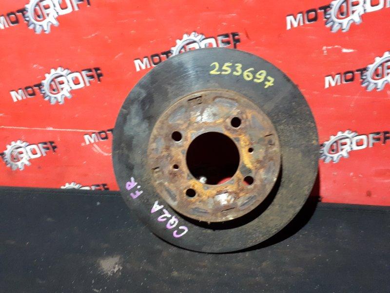 Диск тормозной Mitsubishi Dingo CQ2A 4G15 1998 передний (б/у)
