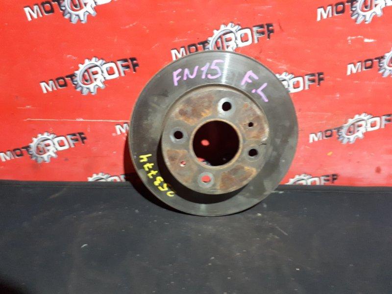 Диск тормозной Nissan Pulsar FN15 GA15DE 1995 передний (б/у)