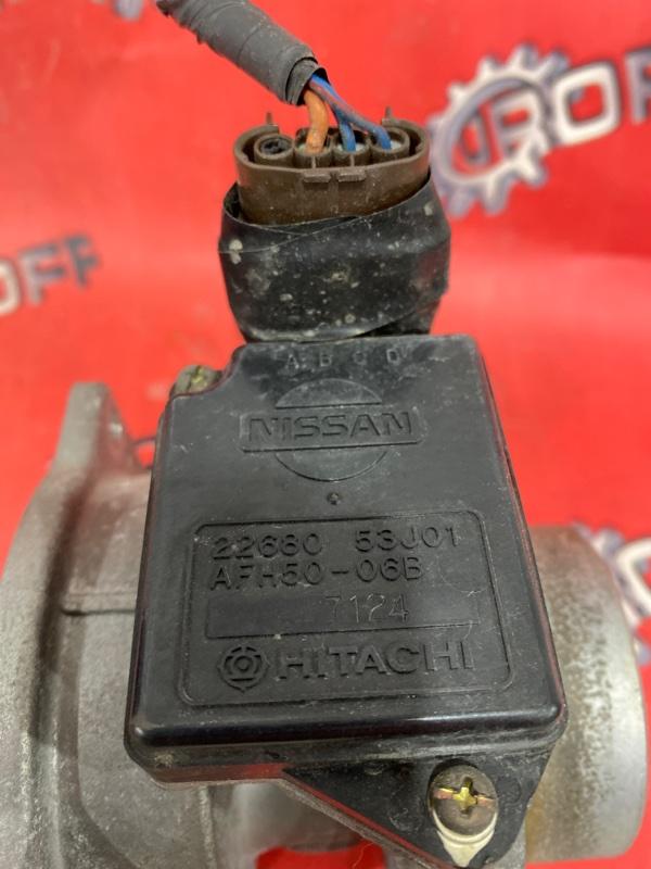 Расходомер (датчик расхода воздуха) Nissan Avenir PW10 SR18DE 1994 (б/у)