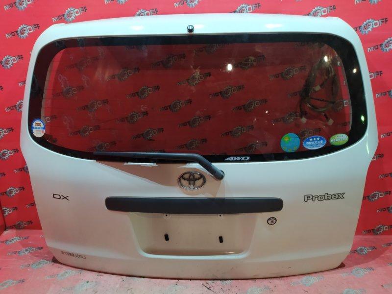 Дверь задняя багажника Toyota Probox NCP55V 1NZ-FE 2002 задняя (б/у)