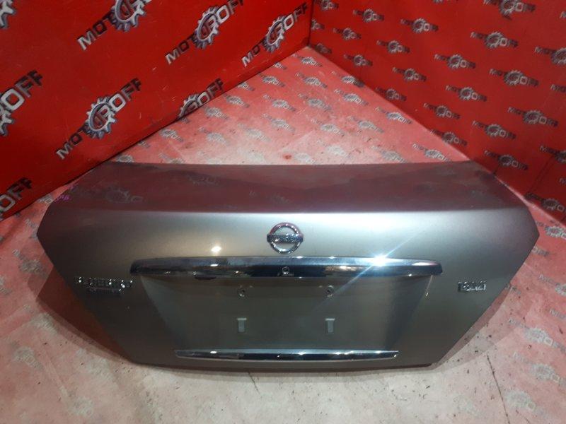 Крышка багажника Nissan Bluebird Sylphy QG10 QG18DE 2003 задняя (б/у)