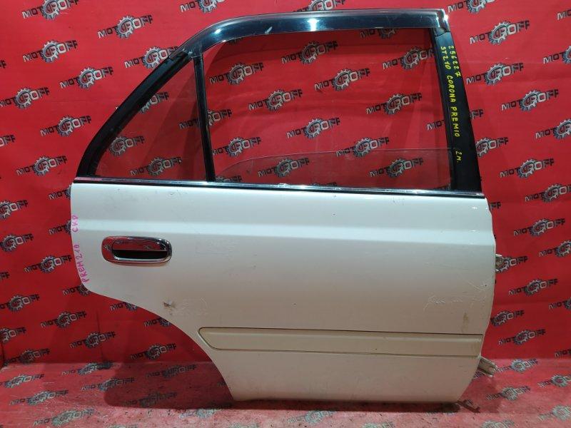 Дверь боковая Toyota Corona Premio ST210 3S-FSE 1996 задняя правая (б/у)