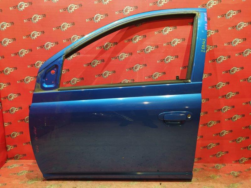 Дверь боковая Toyota Vitz SCP10 1SZ-FE 1999 передняя левая (б/у)