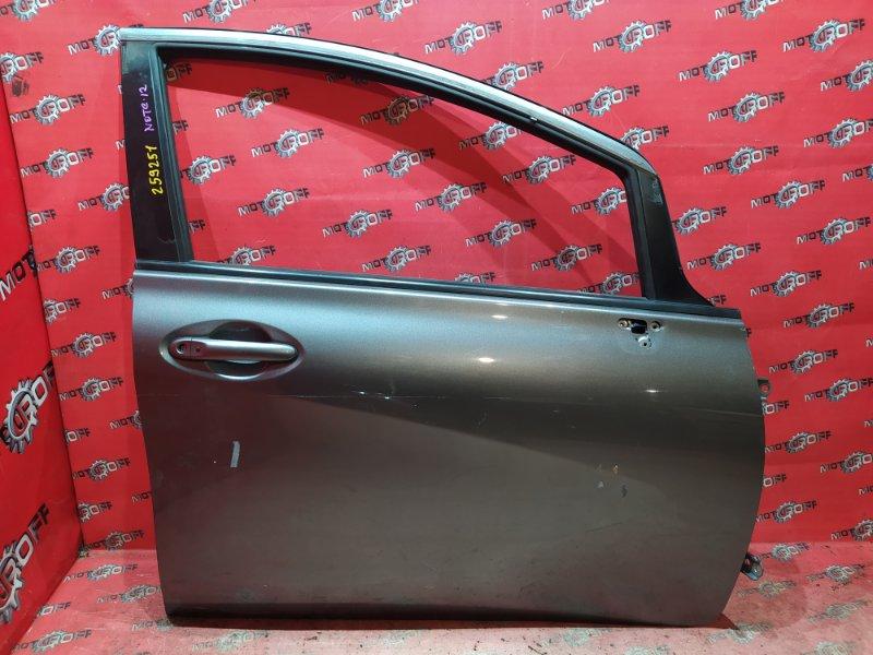 Дверь боковая Nissan Note E12 HR12DE 2012 передняя правая (б/у)