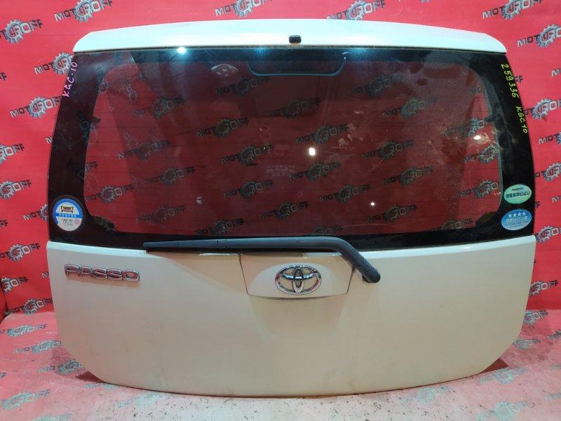 Дверь задняя багажника Toyota Passo KGC10 1KR-FE 2004 задняя (б/у)