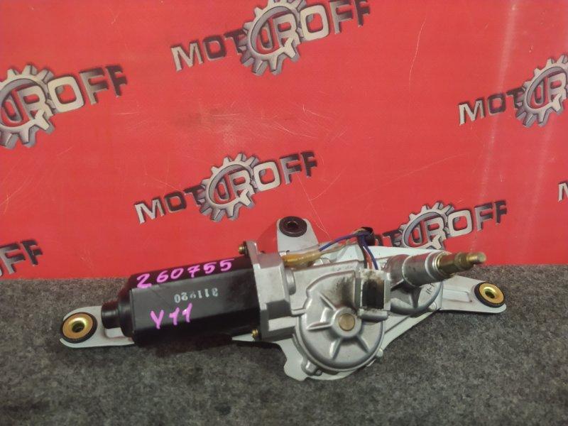 Привод (мотор) стеклоочистителей Nissan Wingroad WFY11 QG15DE 1999 задний (б/у)