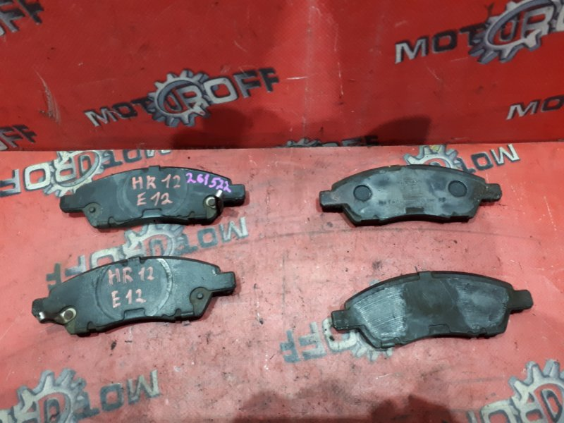 Колодки тормозные Nissan Note E12 HR15DE 2012 передние (б/у)