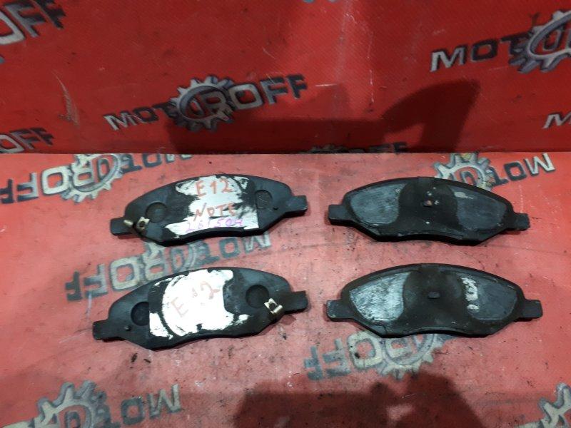 Колодки тормозные Nissan Note E12 HR12DE 2012 передние (б/у)