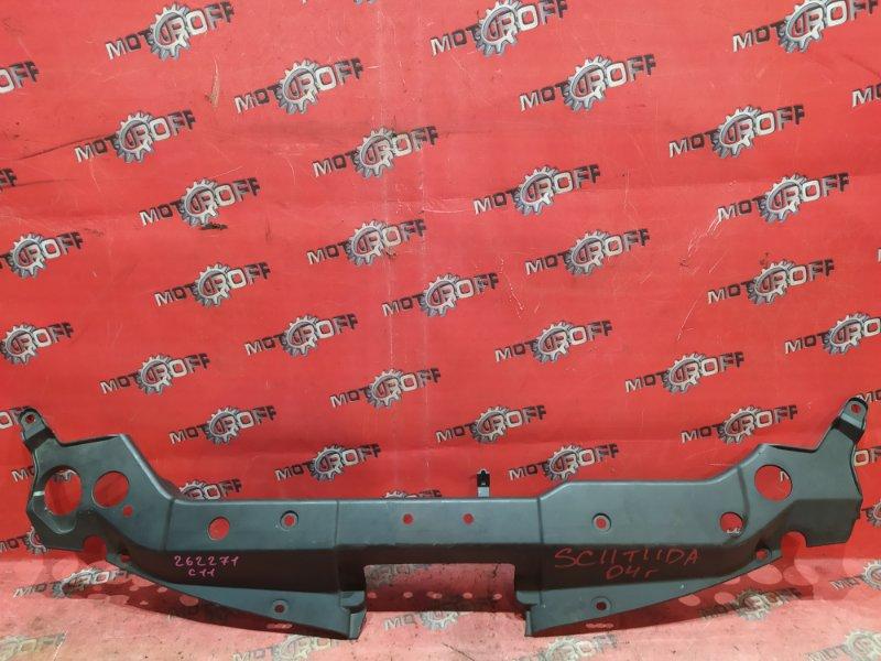 Накладка на решетку радиатора Nissan Tiida Latio SC11 HR15DE 2004 (б/у)