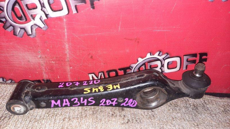 Рычаг подвески Suzuki Wagon R Solio MA34S M13A 2000 передний левый нижний (б/у)
