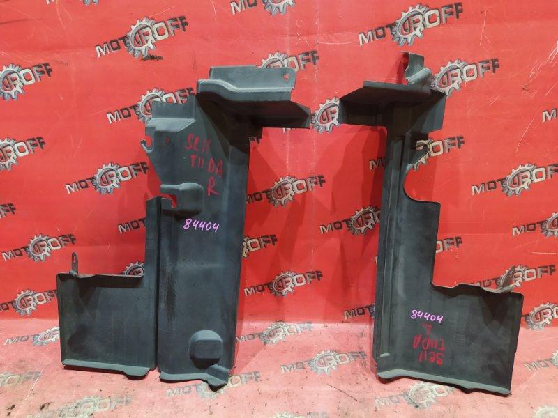 Защита радиатора Nissan Tiida C11 HR15DE 2004 (б/у)