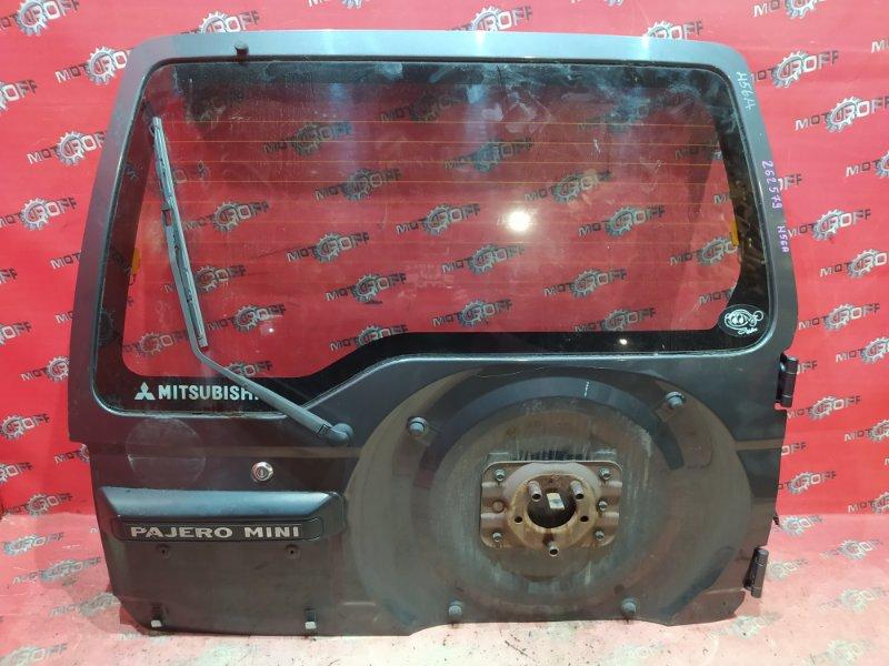 Дверь задняя багажника Mitsubishi Pajero Mini H56A 4A30-T 1994 задняя (б/у)